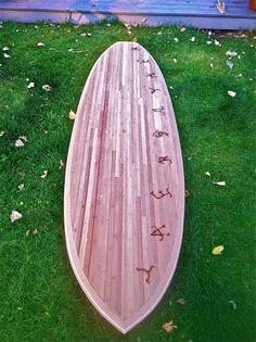 "MT SUP 11 Bamboo   Skinned Tucker Surf Supply ""Stu's"" SUP from  http://www.tuckersurfsupply.com/"