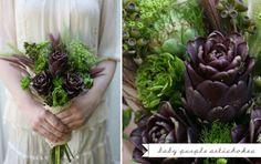 purple artichoke bouquet