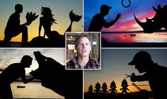 Author and founder of an orphanage, John Marshall from Frye Island Maine, has become an artistic sensation following the release of his work entitled Sunset Selfies.