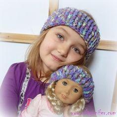#Crochet Free Crochet Pattern ~Dolly and Me Ear Warmers http://www.niftynnifer.com/2015/01/free-crochet-pattern-dolly-and-me-ear.html #Dolly #EarWarmers