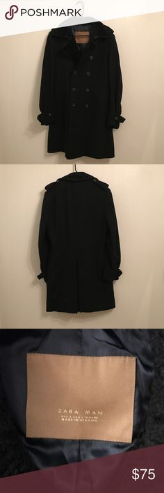 Zara Man Black Trench Coat Size Large Zara Man Black Trench Coat Size Large Used in Good Condition Zara Jackets & Coats Trench Coats