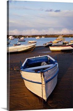Boats Moored Near The Harbor Of Chiclana De La Frontera In Santa Petri; Andalusia, Spain
