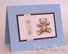 Baby boy bear by SophieLaFontaine - Cards and Paper Crafts at Splitcoaststampers