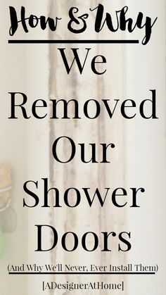 How To Replace Shower Doors with a Shower Curtain Apartment