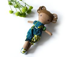 Artículos similares a African rag doll with dreadlocks, African American rag doll with natural hair, ready to ship en Etsy Unique Gifts For Kids, Unique Baby Shower Gifts, African Dolls, African Children, American Rag, The One, African Print Clothing, African Accessories, Toddler Gifts