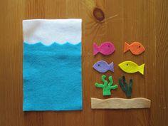 Homemade felt games for kids. Many ideas in post.