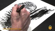 Charlie Adlard drawing at the Barcelona Comic Convention 2011