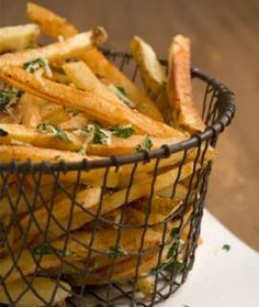Garlicky French Fries with Parmesan and Parsley