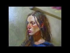 Live Portrait painting in Oil Demo By Prafull Sawant With Alla Prima Portrait Techniques - YouTube