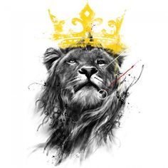 Lion king illustration - High quality htc one wallpapers and abstract backgrounds designed by the best and creative artists in the world. Lion Tattoo Design, Tattoo Designs, Shirt Designs, Lion Design, Lion Pictures, Kings Man, King Art, Lion Of Judah, Art Plastique