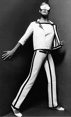 André Courrèges suit, 1965. Photo by Willy Rizzo