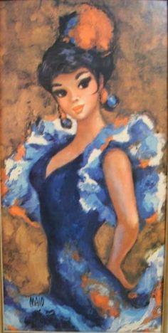 Vintage  Maio Bigeyed ArtSpanish by ODETTESPRETTYTHINGS on Etsy, $24.00