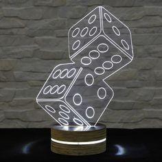 Lampa 3D stołowa Game