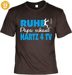 Papa Sprüche Tshirt - cooles für Vater : Ruhe Papa schaut Hartz 4 TV -- Geschenk T-Shirt Vatertag Geburtstag Gr: XXL (*Partner-Link)