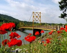 "Beaver Town Bridge-""Little Golden Gate"" Eureka Springs, AR"