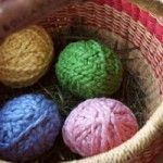 surprise yarn eggs