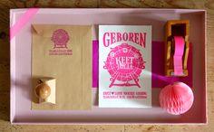 Birth announcement, designed by La Farme, a creative and letterpress studio near Amsterdam, http://www.lafarme.nl/