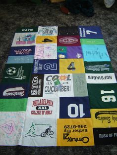 NonBoring TShirt/Memory Quilt by especialy4u on Etsy, $100.00