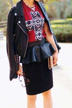Leather Peplum Belt- versatile so that you don't spend too much on a trend.
