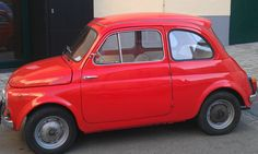 beautiful, red Steyr Puch seen in Vienna!