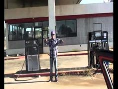 Dance at gas station - YouTube
