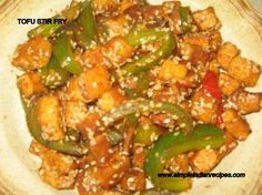 Tofu Stirfry - A indo-chinese recipe made with tofu that can be had as a salad, light meal or as a side. Easy Indian Recipes, Gujarati Recipes, Asian Recipes, Ethnic Recipes, Gujarati Food, Veg Dishes, Main Dishes, Indian Salads, Vegetarian Recipes