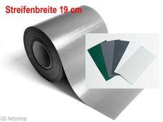 Sichtschutzstreifen PVC 19 cm breit, Rollenlänge und RAL-Farbe nach Wahl