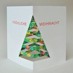diese Weihnachtskarte kann der Empfänger weiterbasteln