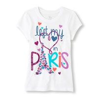 "Camiseta estampada ""Paris Love"""