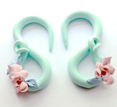 Flower Mint Polymer Clay Gauges: Available Sizes by FinchFinery