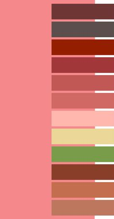Strawberry Ice color palette for Dark Autumn