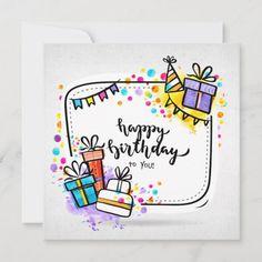 Happy Birthday Teacher, Happy Birthday Doodles, Happy Birthday Drawings, Happy Birthday Cards Handmade, Creative Birthday Cards, Happy Birthday Art, Birthday Card Drawing, Greeting Cards Handmade, Diy Birthday Cards For Mom
