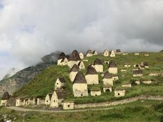 a place called the dargvas - city of the dead actually exists in russia's north ossetia, hidden in one of the five mountain ridges that cross the region.