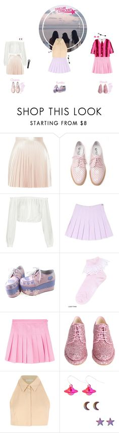 """SCC_Intro Dance + CRYBABY + BUBBLEGUM HEART & JELLY JELLY // Dream Concert"" by doll-anons ❤ liked on Polyvore featuring Lover, Oxford, Elizabeth and James, Katie, Simone Rocha, Cacharel and House of Holland"