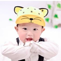 >> Click to Buy << Infant Hats Cotton Hat With Cat Ears Cotton Boys Baseball Caps Kids Beanies Print Girl Bonnet Baby Accessories Free Shipping  #Affiliate
