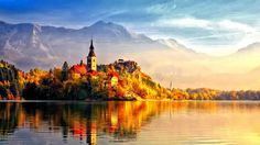 Beautiful autumn castle amazing places to see before you die quotes (Albert einstein) Mountain Wallpaper, Sunset Wallpaper, Fall Wallpaper, Nature Wallpaper, Background 4k, Desktop Background Images, Cool Backgrounds, Klagenfurt, Nature Hd