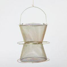 Feeder to hand from walnut tree? Terrain Bronze Hourglass Birdfeeder #shopterrain