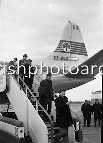 The Beatles arrive in Ireland to play their only gig in the country in the Adelphi Cinema on 7 November Dublin Airport, 50 Anniversary, Photo Archive, Best Memories, Old Photos, The Beatles, Ireland, First Love, Irish