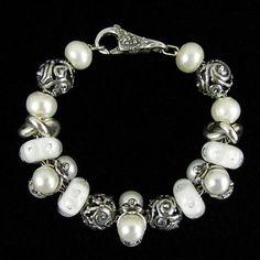 Un altro modo di reinterpretare la classica collana con perle per il giorno del tuo matrimonio #Trollbeads #wedding