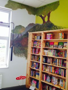 Hand Painted Wall Murals in School Library in Skerries, Dublin.. Acrylic.. by Bronwyn at RubyRua Interiors.. Contact me at bronwynrcb@ gmail. com