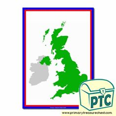 Great Britain - Primary Treasure Chest Weather Report, Weather Forecast, Teaching Activities, Teaching Ideas, Map Of Great Britain, Ourselves Topic, Britain Uk, Role Play, Treasure Chest