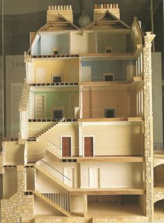 Cutaway of a Bath town house. What an amazing dollhouse this could be!