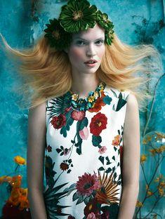 Tutte in fiore - Glamour Italia, project by Sandrine Dulermo and Michael Labica - ego-alterego.com