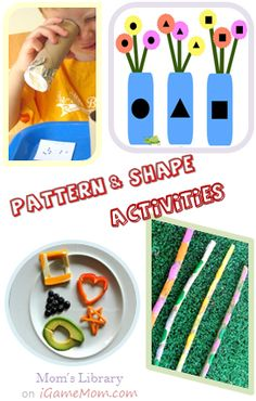 4 Patterns and Shapes Learning and Practice activities that cost almost nothing - great fun for everyday math learning - Mom's Library on iGameMom.com