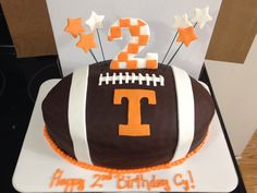f0c0766a060ec171f09fa236cdc1cad9 talen football cakes tn cake decorator icing with fondant letters and candy footballs