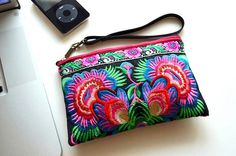 Hill Tribe Clutch Bag Vintage Hmong Fabric Women Boho by Dollypun