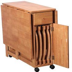 Mesa Dobrável Butterfly c/ 4 Cadeiras HomeTrends -Móveis e Decoração - Conjuntos de Mesas e Cadeiras - Walmart.com