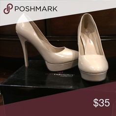Nude/beige stiletto pumps Classic. Neutral. Goes with anything! Kept in very good condition. Comes with travel bag and original box. JustFab Shoes Heels
