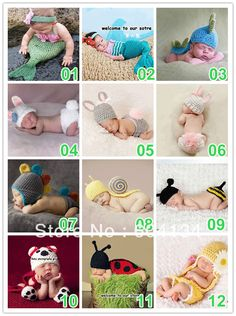Free shipping 10sets/lot Fashion Cute  Newborn Baby  Handmade Crochet Knitting Cutton photography props clothing on AliExpress.com. $98.00