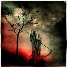 Grim Reaper.  Pretty.